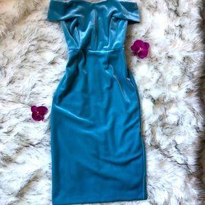 Off the shoulder dress. Eve Mendez NY&CO